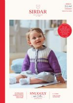 Sirdar Snuggly 100% Cotton Knitting Pattern Booklet - 5277 Cardigans